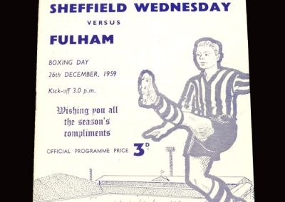Sheff Wed v Fulham 26.12.1959