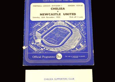 Chelsea v Newcastle 26.12.1959