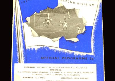 Bristol Rovers v Lincoln 02.01.1960