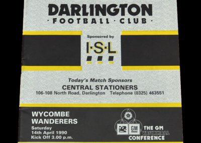 Darlington v Wycombe Wanderers 14.04.1990
