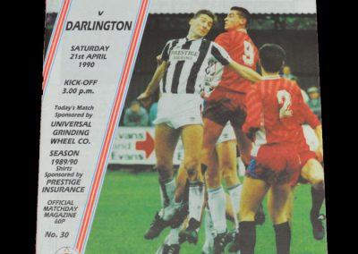 Darlington v Stafford Rangers 21.04.1990