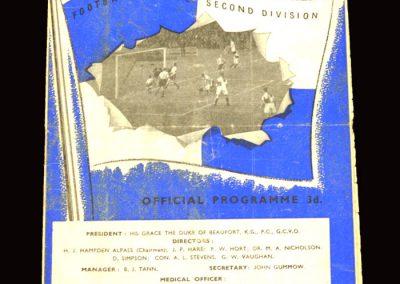 Bristol Rovers v Sunderland 23.01.1960