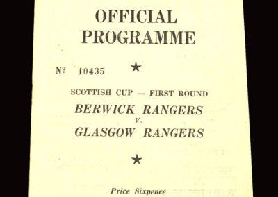 Berwick v Rangers 30.01.1960