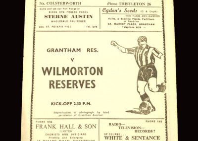Granthem Reserves v Wilmorton Reserves 30.01.1960