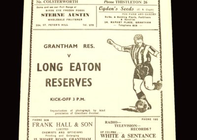 Grantham Reserves v Long Easton Reserves 20.02.1960