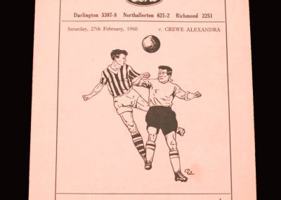 Darlington v Crewe 27.02.1960