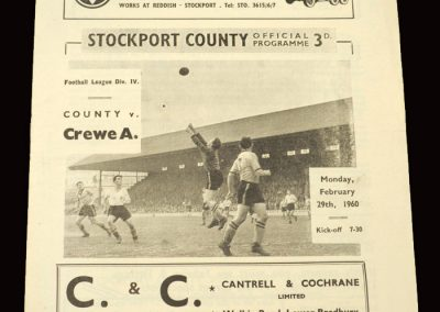 Stockport v Crewe 29.02.1960