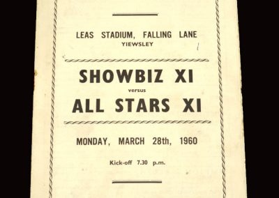 Showbiz 11 v All Starts 11 28.03.1960 (Sean Connery)