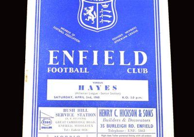 Enfield v Hayes 02.04.1960