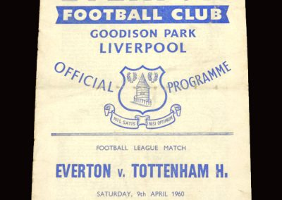 Everton v Spurs 09.04.1960