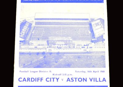 Cardiff v Aston Villa 16.04.1960 (50th Jubilee)