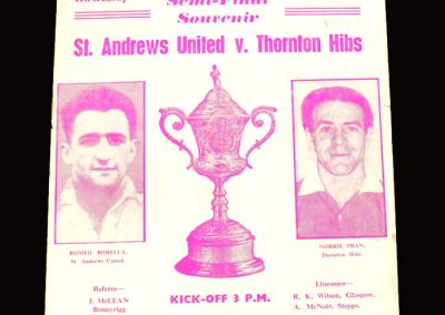 St Andrews v Thornton 16.04.1960 - Scottish Junior Cup Semi Final