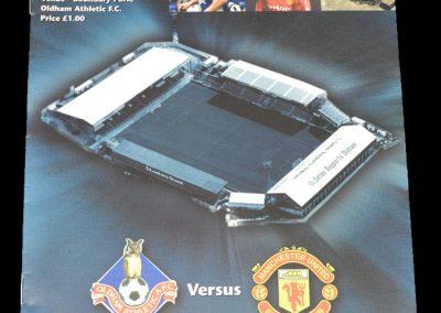 Man Utd v Oldham 13.05.1999 - Manchester Senior Cup Final