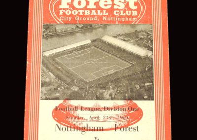 Notts Forest v Newcastle 23.04.1960