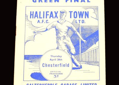 Halifax v Chesterfield 28.04.1960