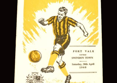Port Vale v Swindon 30.04.1960