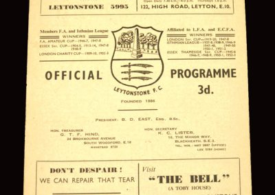 Leytonstone v Kingstonian 07.05.1960