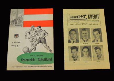 Austria v Scotland 29.05.1960