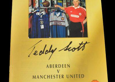 Man Utd v Aberdeen 18.01.1999 - Teddy Scott Testimonial