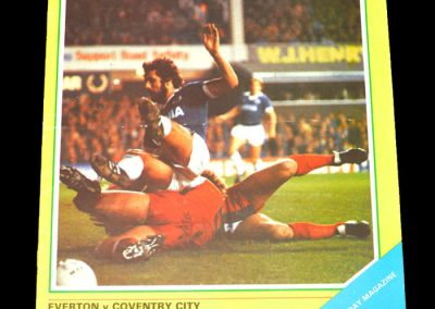 Everton v Coventry 28.12.1981