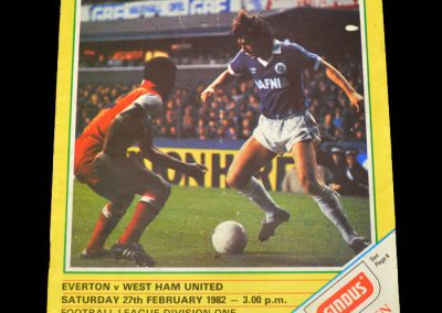 Everton v West Ham 27.02.1982