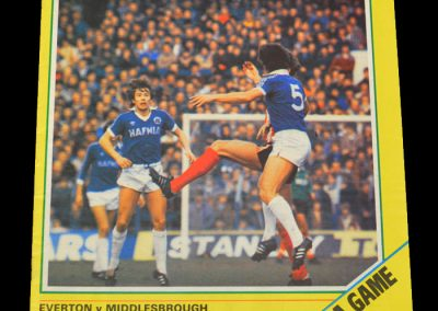 Everton v Middlesbrough 13.03.1982
