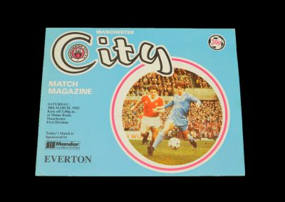 Everton v Man City 20.03.1982