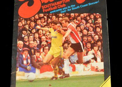 Everton v Southampton 05.09.1981