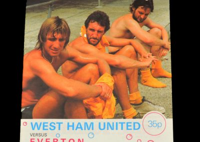 Everton v West Ham 10.10.1981