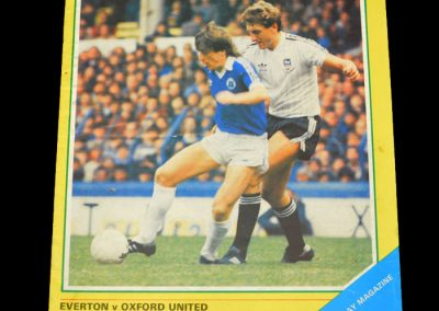 Everton v Oxford 11.11.1981 - League Cup 3rd Round