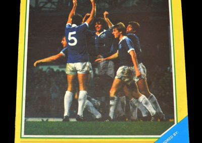 Everton v Aston Villa 19.12.1981