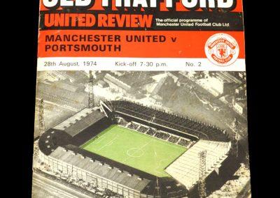 Man Utd v Portsmouth 28.08.1974