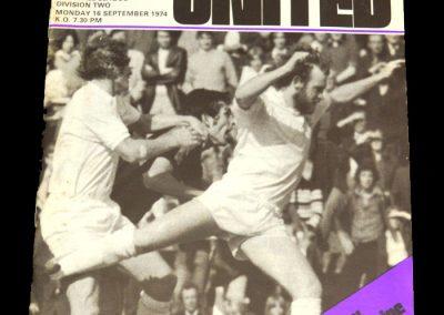 Man Utd v Millwall 16.09.1974