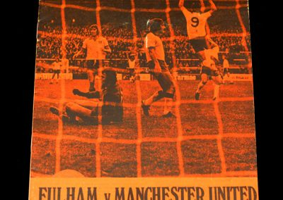 Man Utd v Fulham 05.10.1974