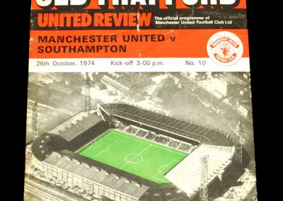 Man Utd v Southampton 26.10.1974