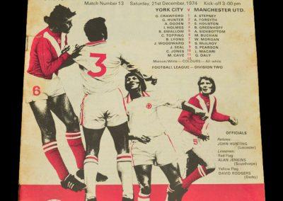 Man Utd v York 21.12.1974