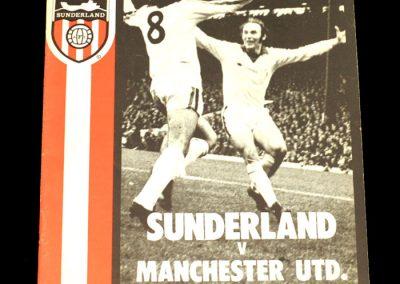 Man Utd v Sunderland 18.01.1975