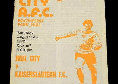 Hull v Kaiserslautern 05.08.1972