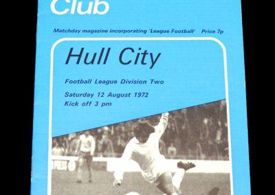 Hull v Millwall 12.08.1972