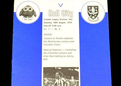 Hull v Sheff Wed 26.08.1972