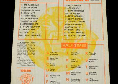 Hull v Bristol City 29.08.1972