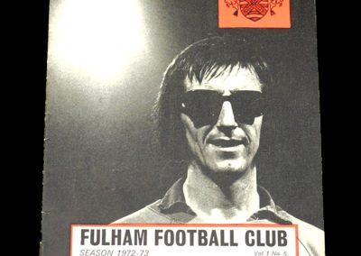 Hull v Fulham 20.09.1972