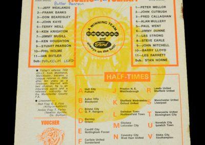 Hull v Fulham 11.11.1972