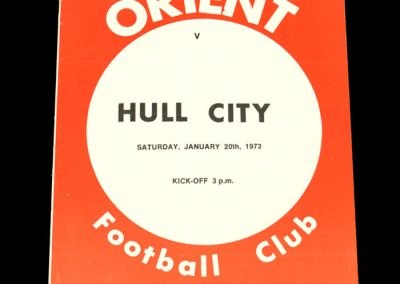 Hull v Leyton Orient 20.01.1973
