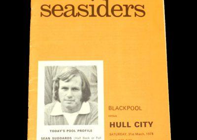Hull v Blackpool 31.03.1973