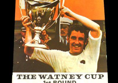 Man Utd v Halifax 31.07.1971 - The Watney Cup 1st Round