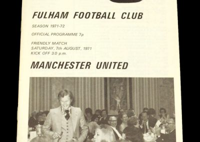 Man Utd v Fulham 07.08.1971 - Friendly