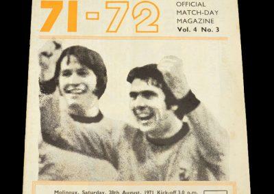 Man Utd v Wolves 28.08.1971