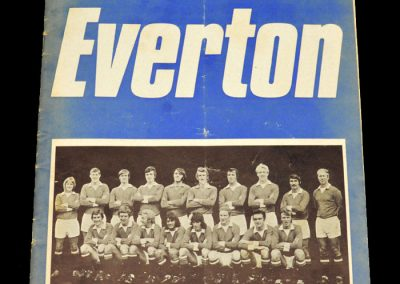 Man Utd v Everton 31.08.1971