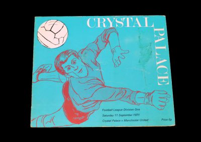 Man Utd v Crystal Palace 11.09.1971